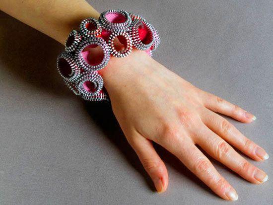 Как сделать браслет из ненужной фурнитуры