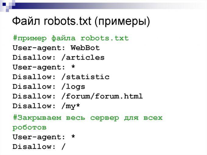 Создание файла Robots.txt. Роль файла sitemap.xml
