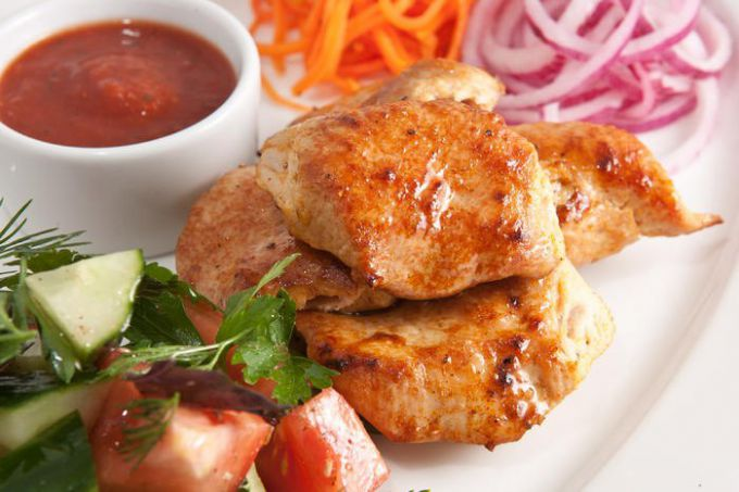 Как приготовить шашлык из курицы на решетке