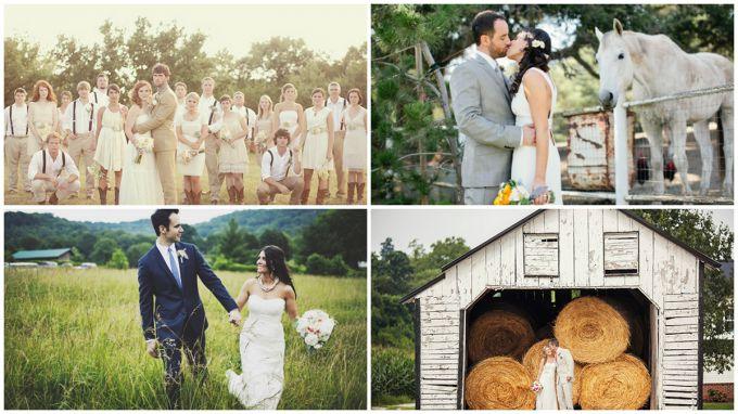 Свадьба в стиле рустик на природе