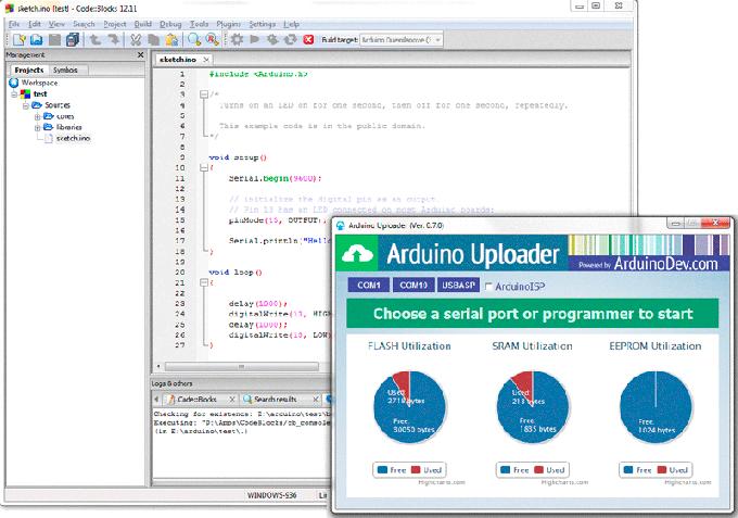 Среда разработки Codeblocks для Arduino