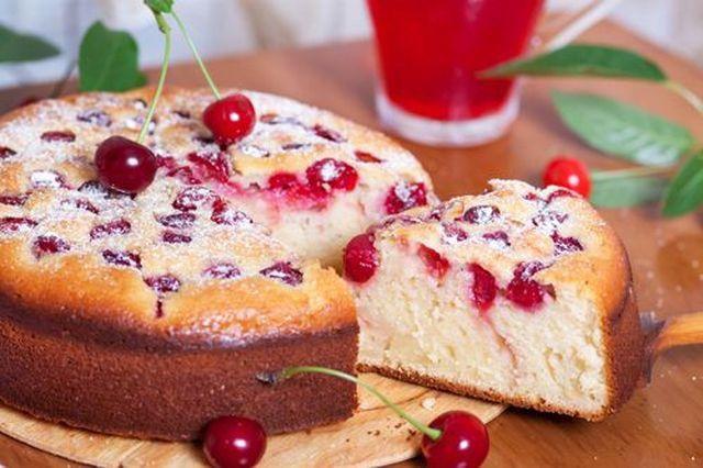 Как приготовить пирог c вишней