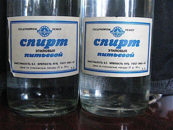 как развести спирт с водой