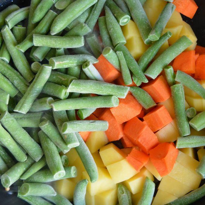 Замороженные овощи готовить так же легко, как свежие