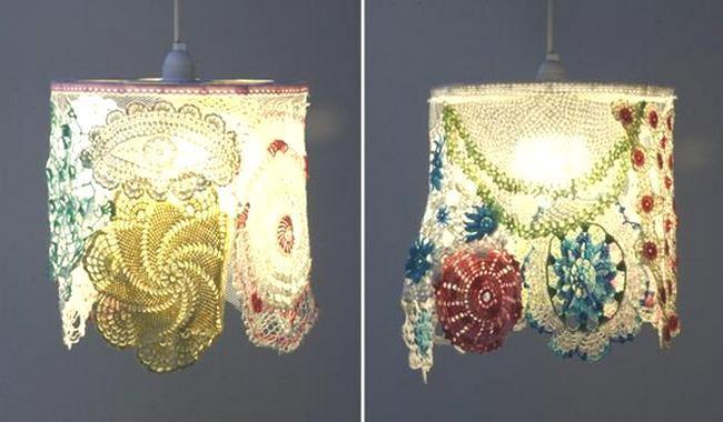 Два простых способа сделать абажур из салфеток