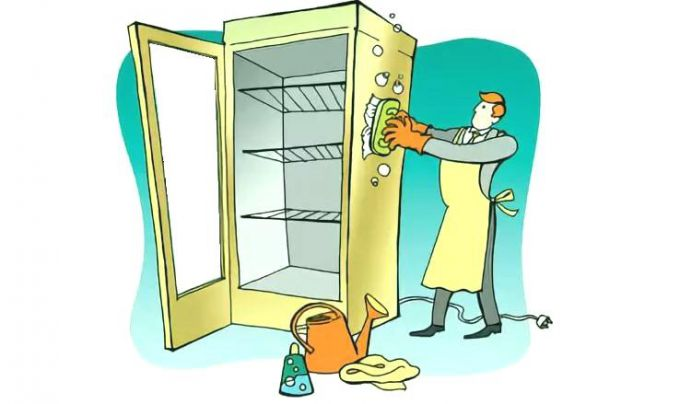 Как правильно мыть морозильную камеру или холодильник?