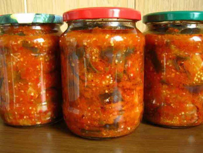 Как приготовить баклажаны с помидорами на зиму
