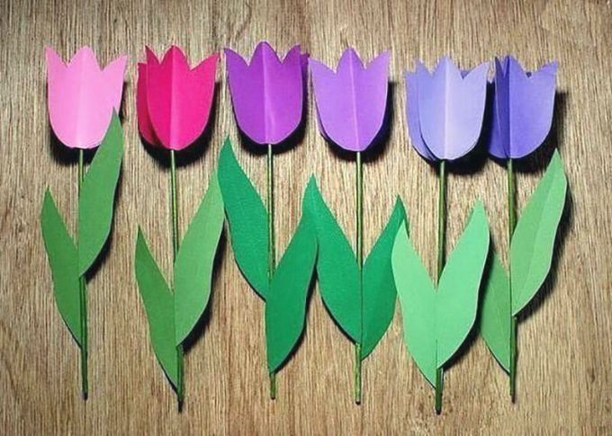 Тюльпаны бумажные своими руками 88