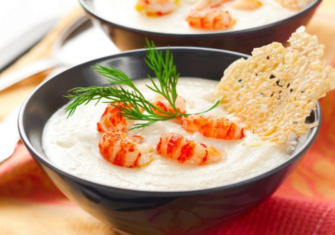 Как приготовить суп-пюре с креветками
