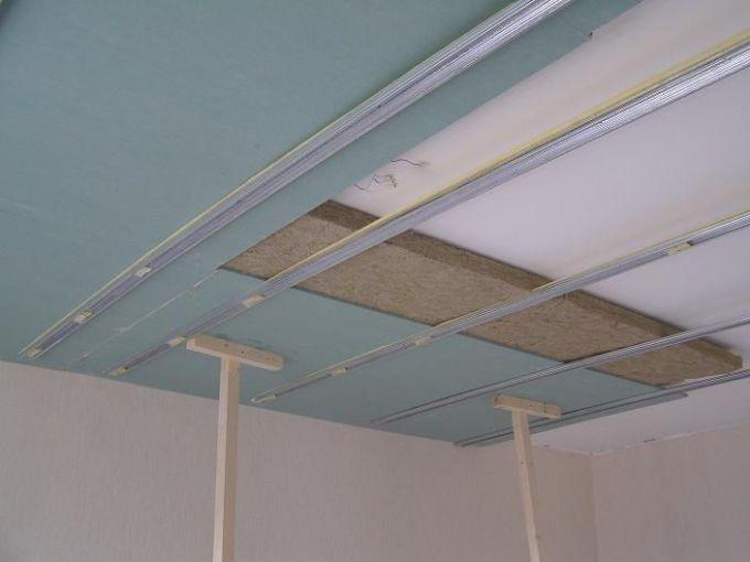 Звукоизоляция под натяжной потолок