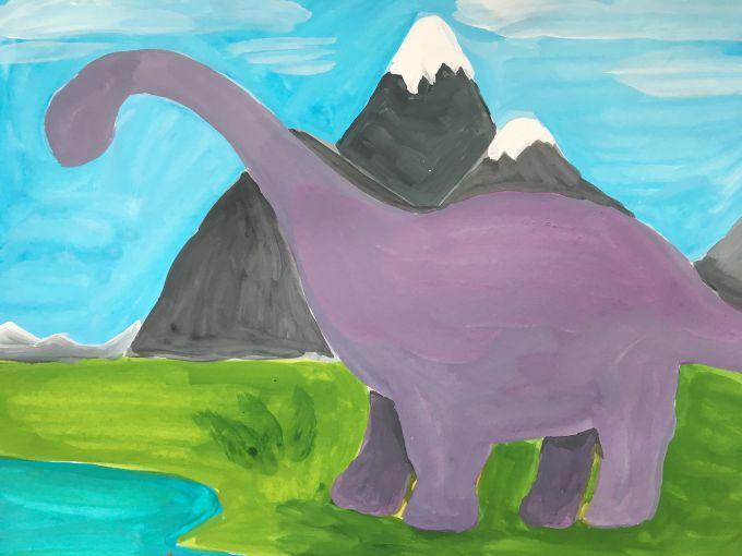 раскрашиваем динозавра