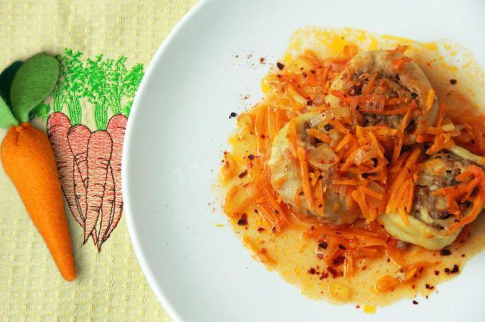 Как приготовить ленивые пельмени на сковороде
