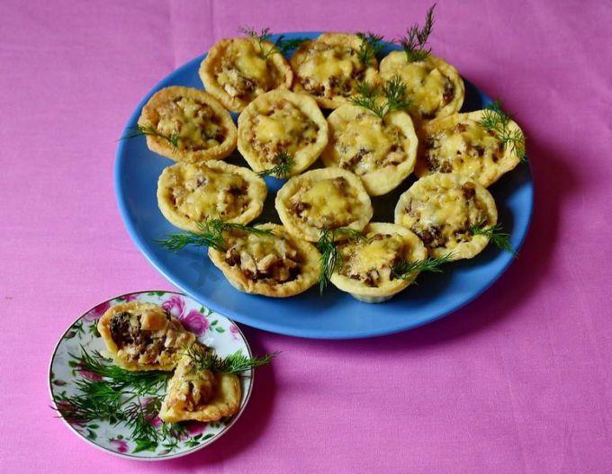 Как приготовить тарталетки с курицей и грибами