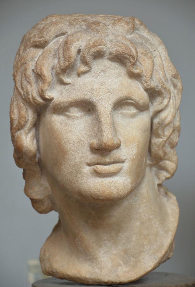 Мраморный портрет Александра Македонского
