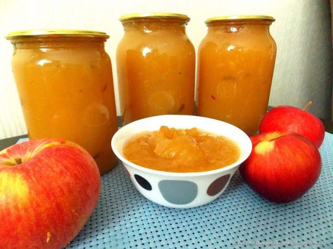 Яблочный джем на зиму - рецепт с фото
