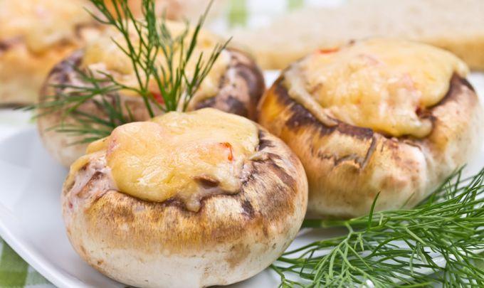 Сырные грибы из духовки