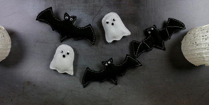 Две простые маленькие поделки из фетра к Хэллоуину