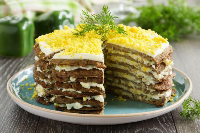 Печеночный торт из говяжьей печени: пошаговые рецепты с фото для легкого приготовления