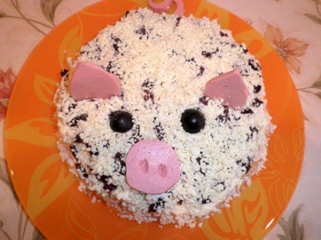 Салат Свинка к Новому году