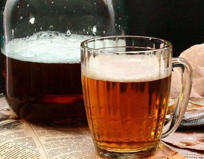 Светлое домашнее пиво