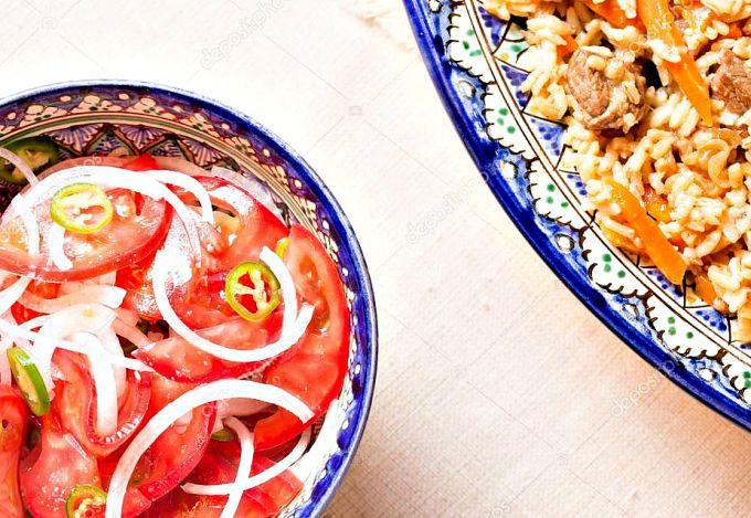 идеальное сочетание: салат и плов