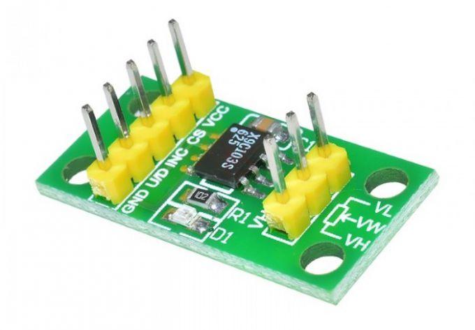 Модуль с цифровым потенциометром X9C103S