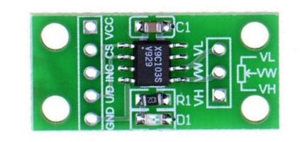 Внешний вид модуля с потенциометром X9C