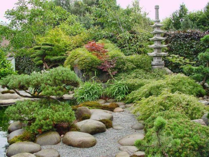 Ландшафтный дизайн. Сад в японском стиле.
