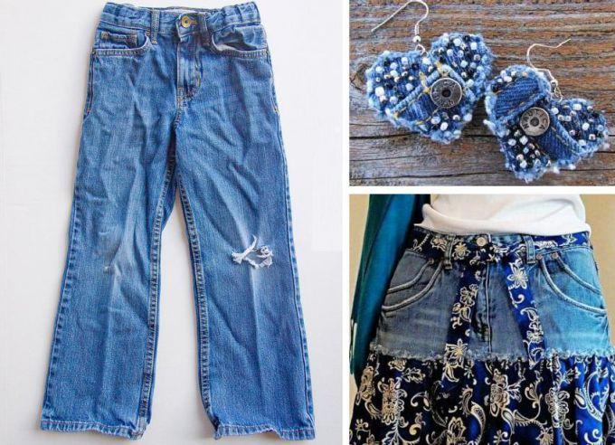 Что сделать для себя из старых джинсов: 6 простых идей