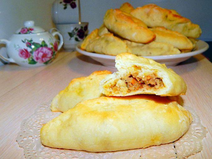 Как испечь пирожки с мясом и картошкой