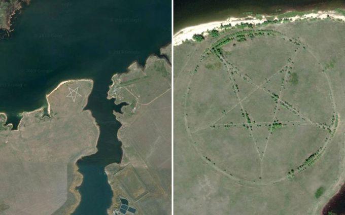 При желании на картах Гугл можно найти десятки необычных мест