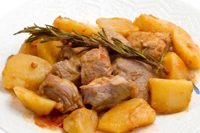 Картофель с мясом по-грузински