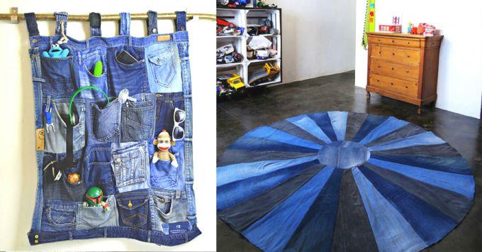 Что сделать для дома из старых джинсов своими руками: 6 простых идей