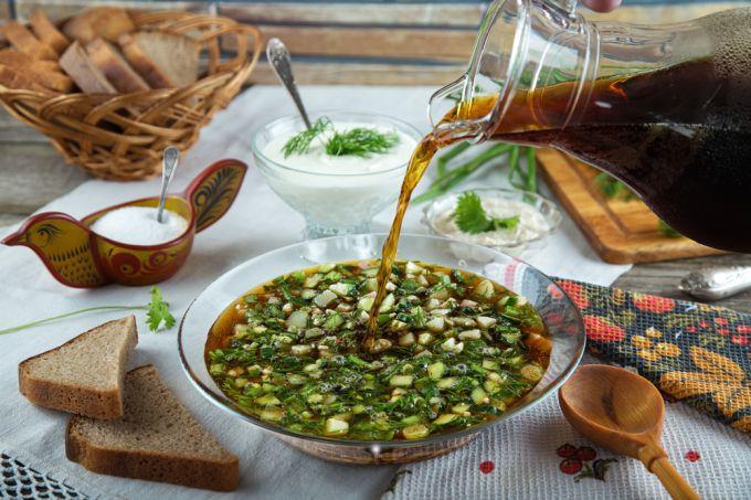 Как приготовить вкусную окрошку на квасе