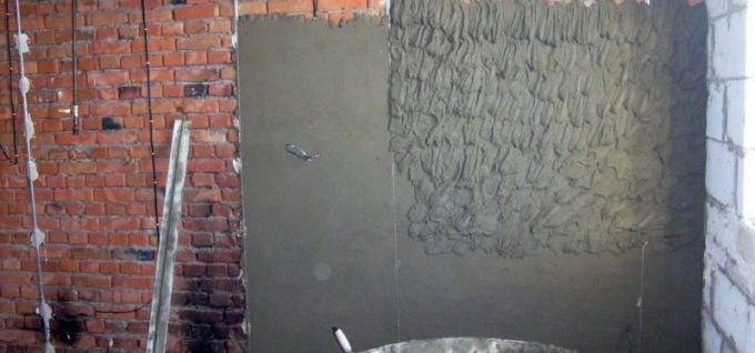 Как сделать штукатурку стен цементным раствором