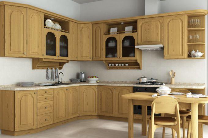 Кухни из сосны: особенности материала и варианты оформления
