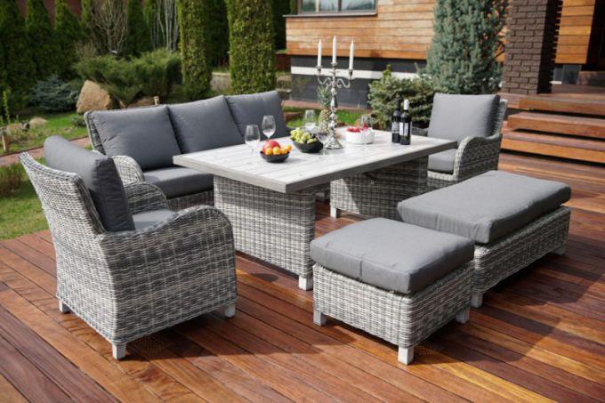 Садовая мебель: искусственный ротанг, пластик, дерево. Плюсы и минусы