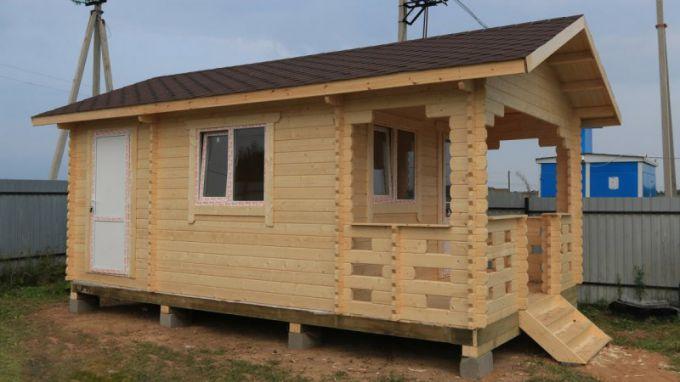 Проект мини-домика из двойного шпунта