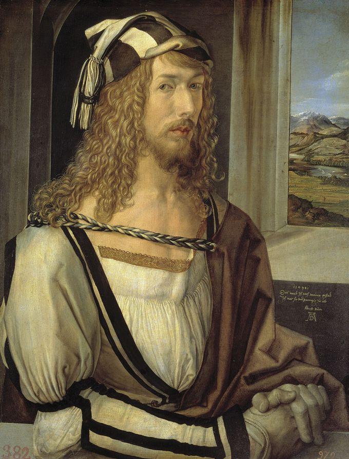 Автопортрет Дюрера, 1498 г.