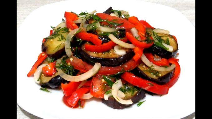 Салат из баклажанов: рецепты приготовления