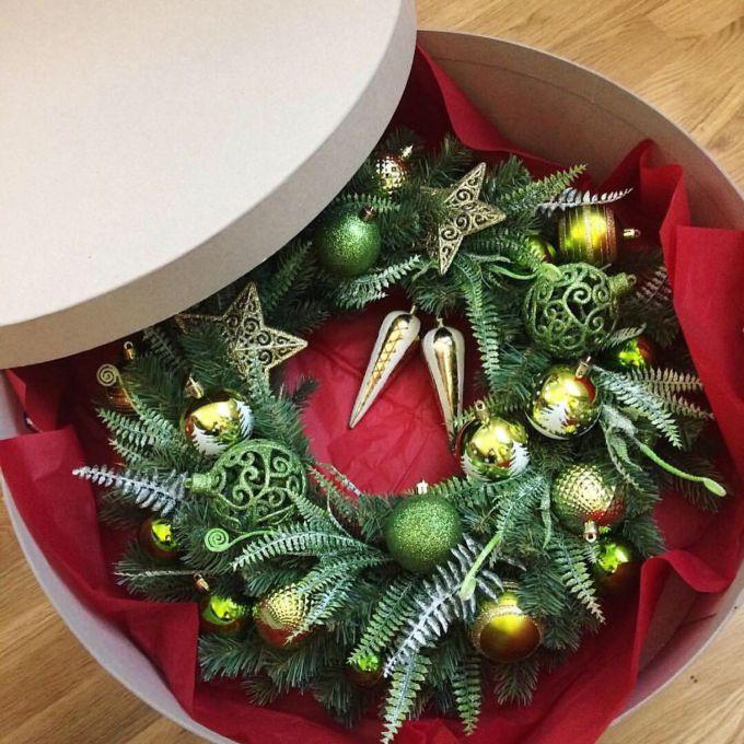 хранение рождественских венков