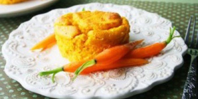 Морковно-картофельное суфле – вкусное и легкое блюдо для разгрузочного меню