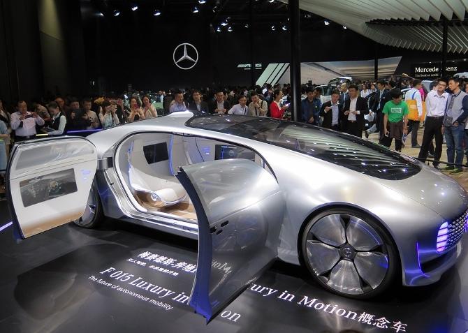 Концепт-кар - прототип новой модели Мерседеса