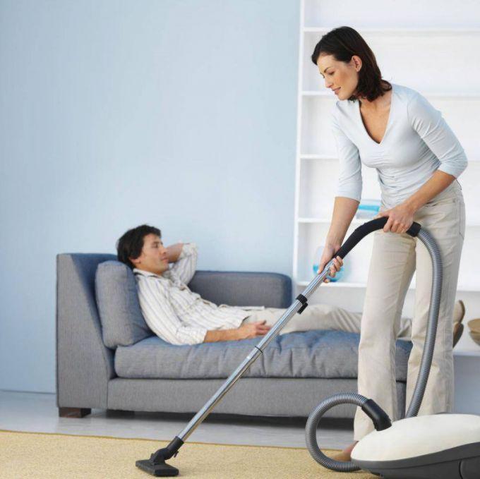Многие мужчины не любят домашней работы