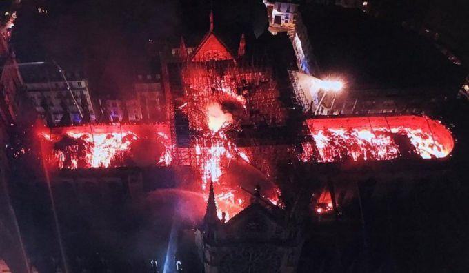 Пожар в Соборе Парижской Богоматери 2019: последние новости