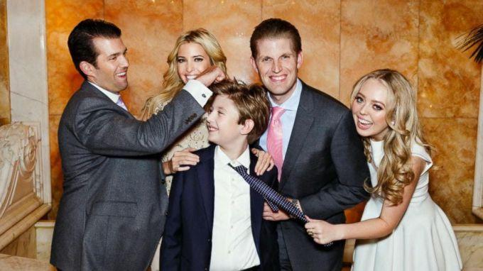 Дети Дональда Трампа: фото
