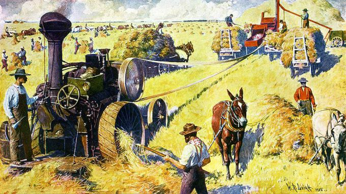Внедрение достижений промышленности в сельское хозяйство