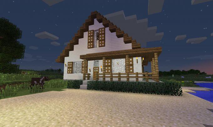 Как в майнкрафте построить дом за 1 секунду