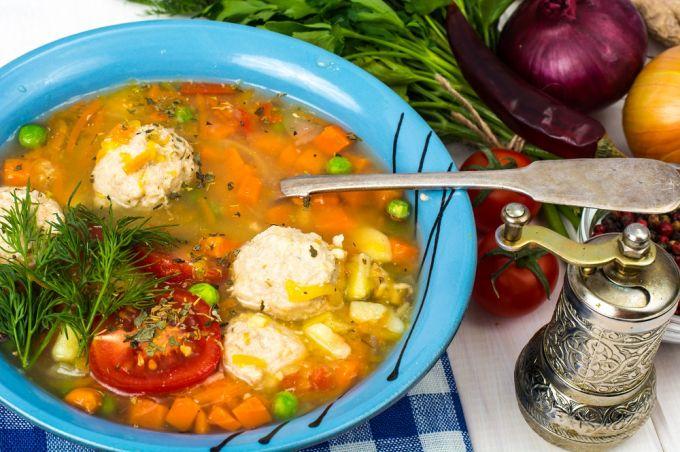 Суп из кролика с фрикадельками