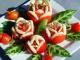 Закуска для фуршета  «Цветочки из помидора»
